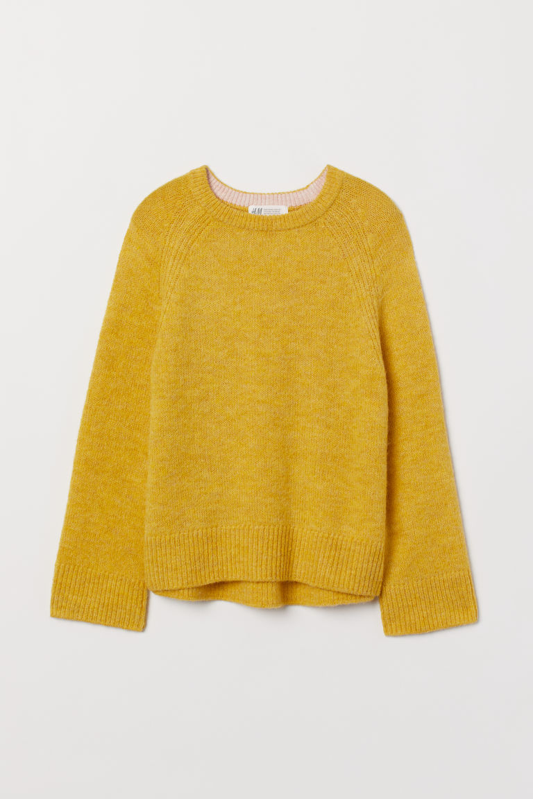 Knitted jumper - Yellow - Kids | H&M CN