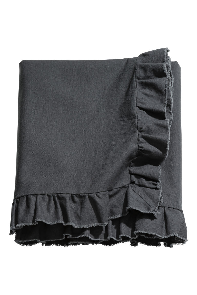 Linen-blend Tablecloth - Charcoal gray - Home All | H&M CA