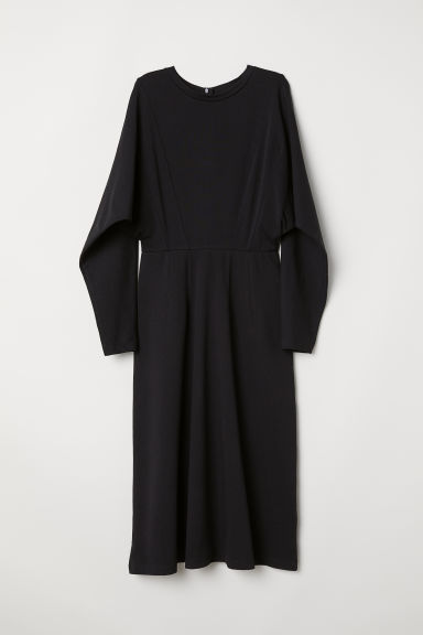 Dress with dolman sleeves - Black - Ladies | H&M CN