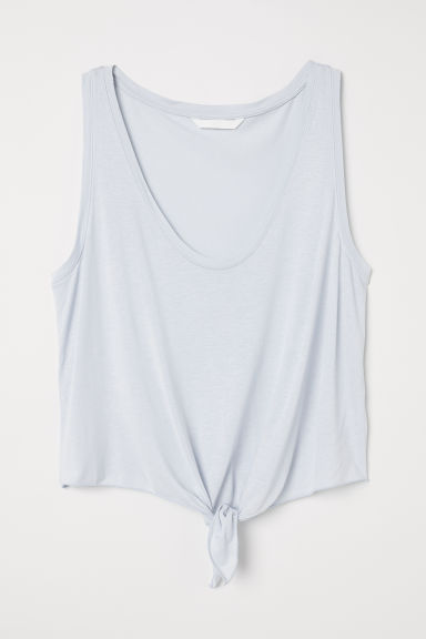 Top smanicato nodo decorativo - Azzurro -  | H&M IT