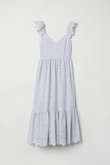 Embroidered dress - Light blue - Ladies | H&M CN