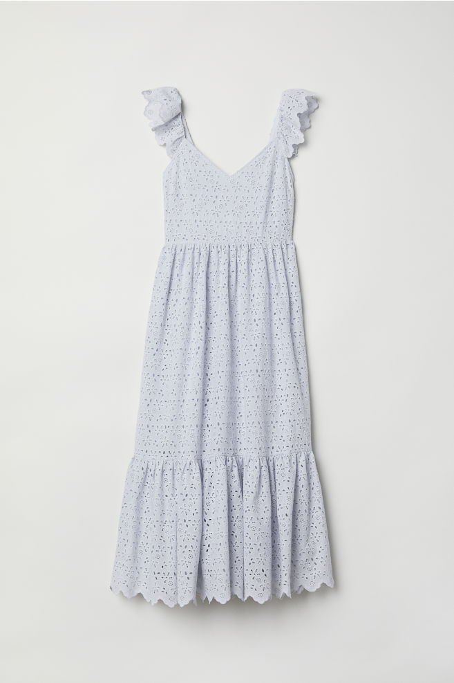 c70fdcba8 Embroidered dress - Light blue - Ladies | H&M ...