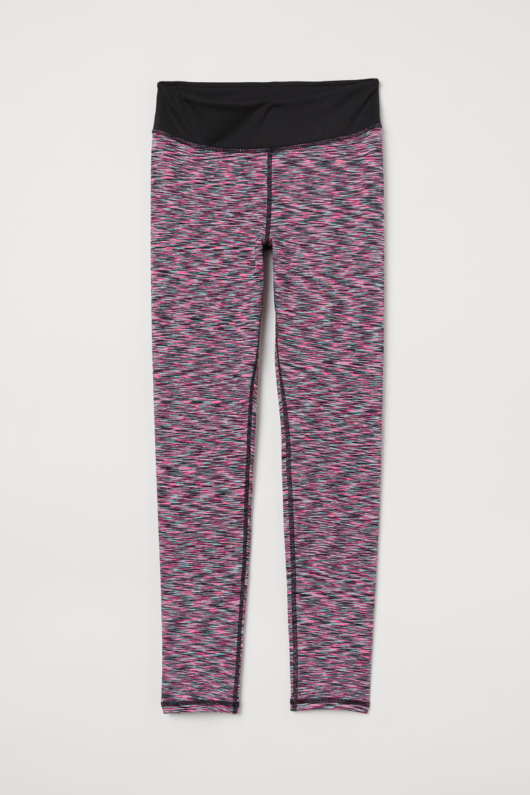 Sports tights - Neon pink/Patterned - Kids | H&M CN