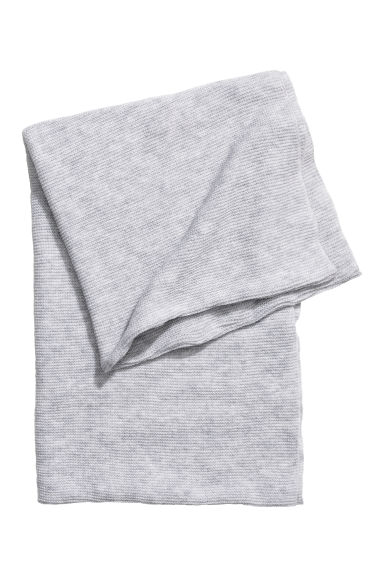 Knitted tube scarf - Light grey marl -  | H&M IE