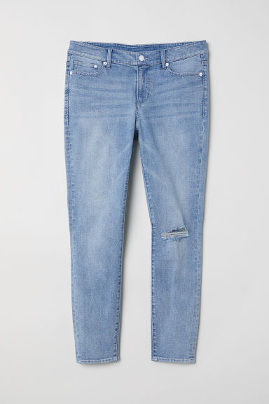 H&M+ Skinny High Jeans - Light denim blue - Ladies | H&M