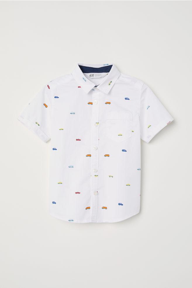 Kortärmad skjorta - Vit Bilar -  93a0b173e199b