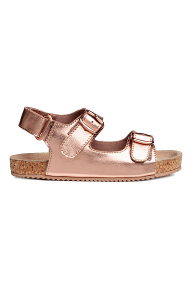Suede sandals - Rose gold-coloured -  | H&M