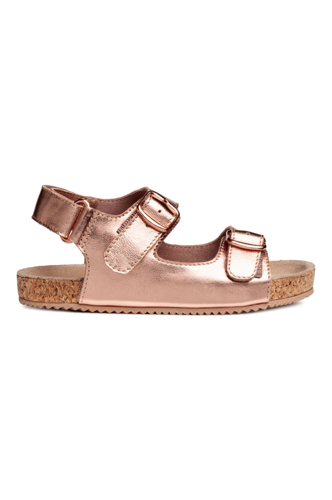 b4afb342791 Suede sandals - Rose gold-coloured - Kids