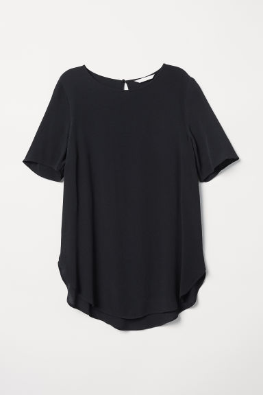 Top van crêpe - Zwart - DAMES | H&M BE