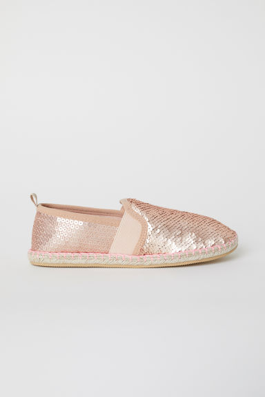 Sequined espadrilles - Rose gold-coloured - Kids | H&M
