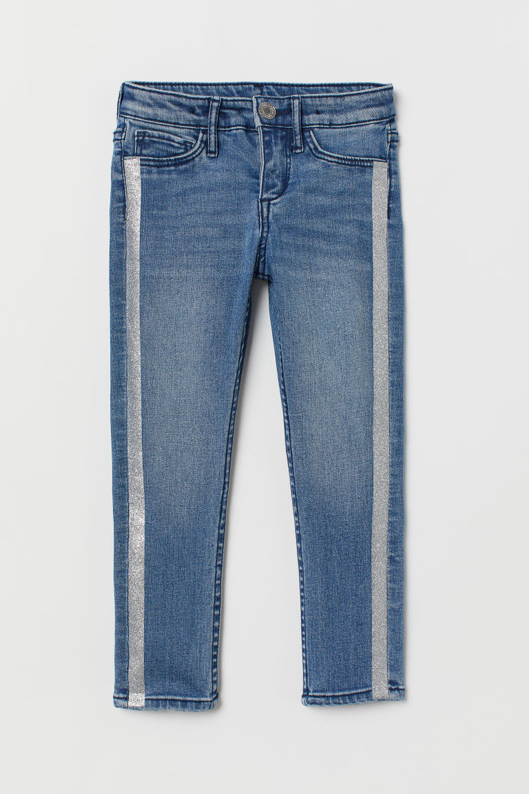 Superstretch Skinny Fit Jeans - Blau/Silberfarben - KINDER | H&M CH