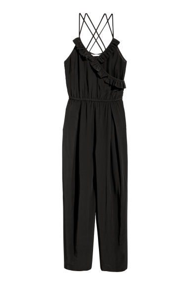 Tuta in viscosa - Nero -  | H&M IT