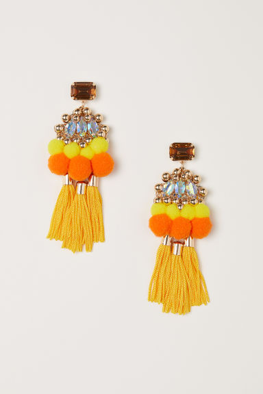 Tasselled earrings - Yellow - Ladies | H&M GB