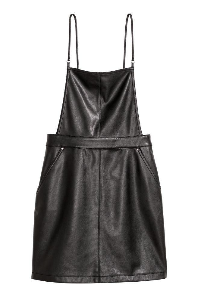 edb797cab8f7c Dungaree dress - Black -   H&M ...
