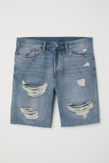 Shorts in denim Straight Fit