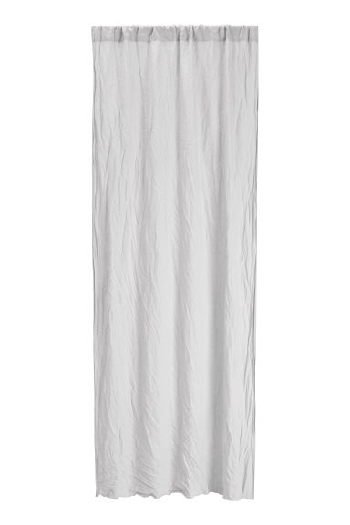 Washed linen curtain length - Light grey - Home All | H&M CN