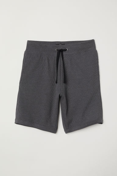 Short - Regular fit - Donkergrijs gemêleerd - HEREN | H&M BE
