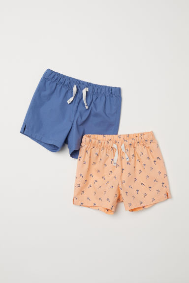 2-pack cotton shorts - Light orange/Palm trees -  | H&M CN