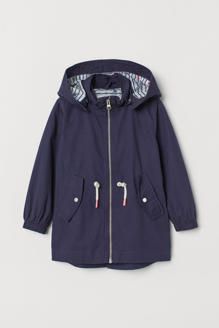 Cotton parka - Dark blue - Kids | H&M CN