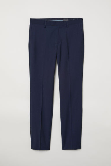 Suit trousers Slim fit - Dark blue marl - Men | H&M CN