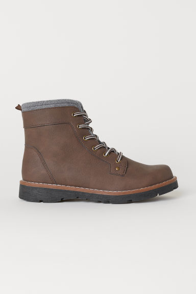 Warm-lined ankle boots - Dark brown - Kids | H&M CN