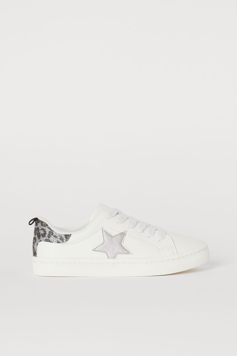 Glittery trainers - White/Star - Kids | H&M GB