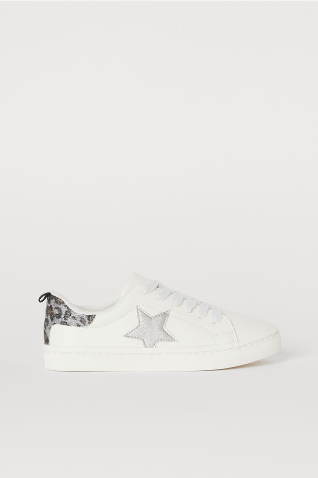 6a252693be701 Glittery trainers - White/Star - Kids | H&M ...