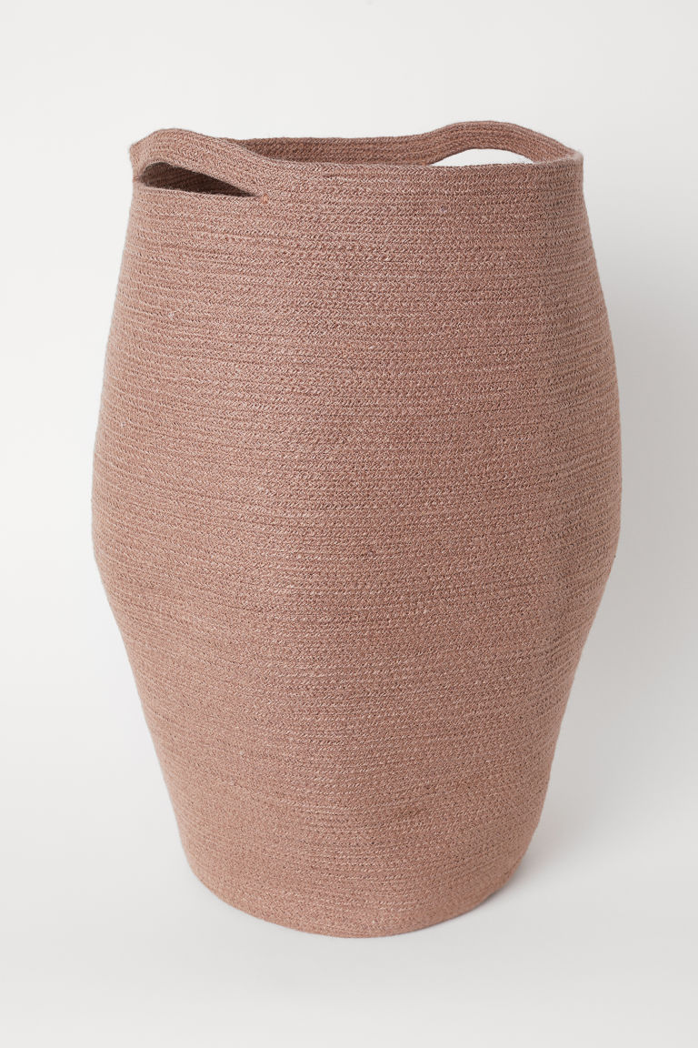 Jute Laundry Basket - Dusty rose - Home All | H&M US