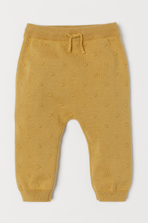 Knitted cotton trousers