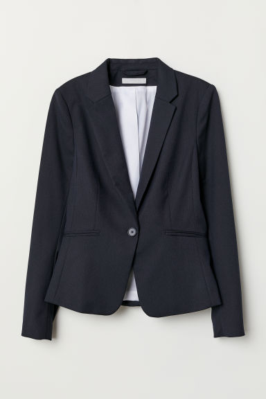 Fitted jacket - Dark blue - Ladies | H&M IN
