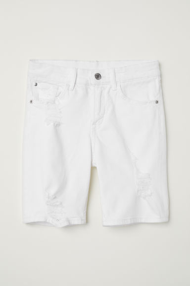 Denim shorts - White - Kids | H&M