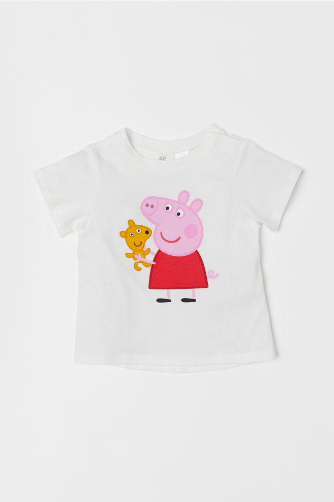 89652cd3e Printed T-shirt - White/Peppa Pig - Kids   H&M ...