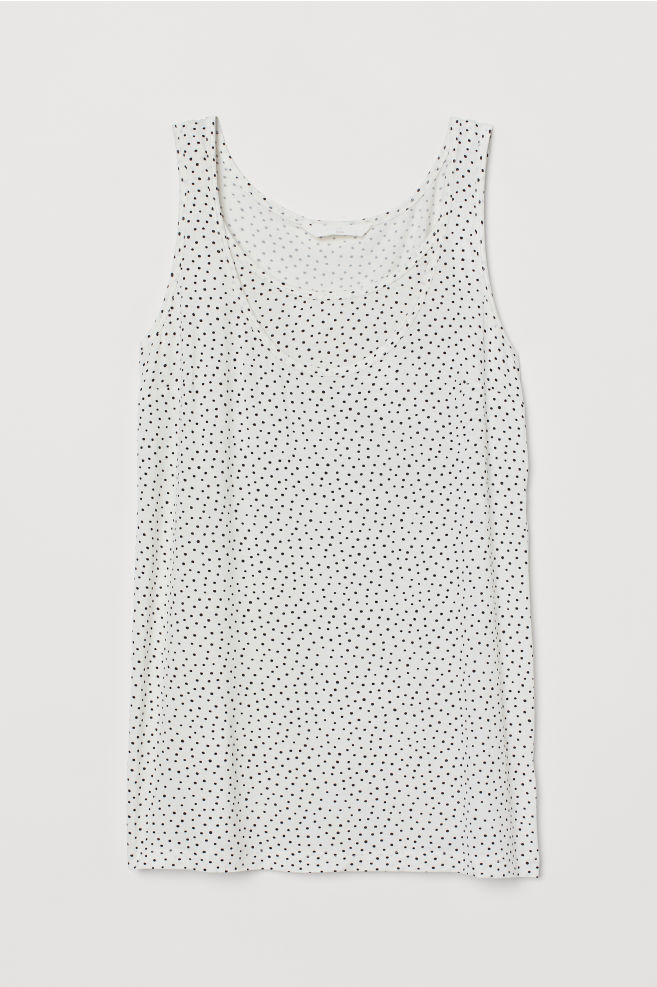 da6ddf51d20fb ... MAMA Nursing Tank Top - White/black dotted - Ladies | H&M ...