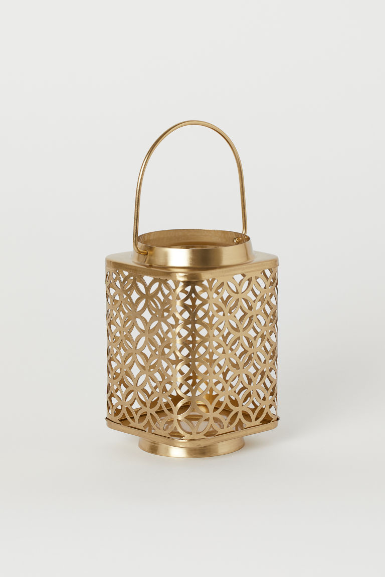 Metal Candle Lantern - Gold-colored - Home All | H&M US