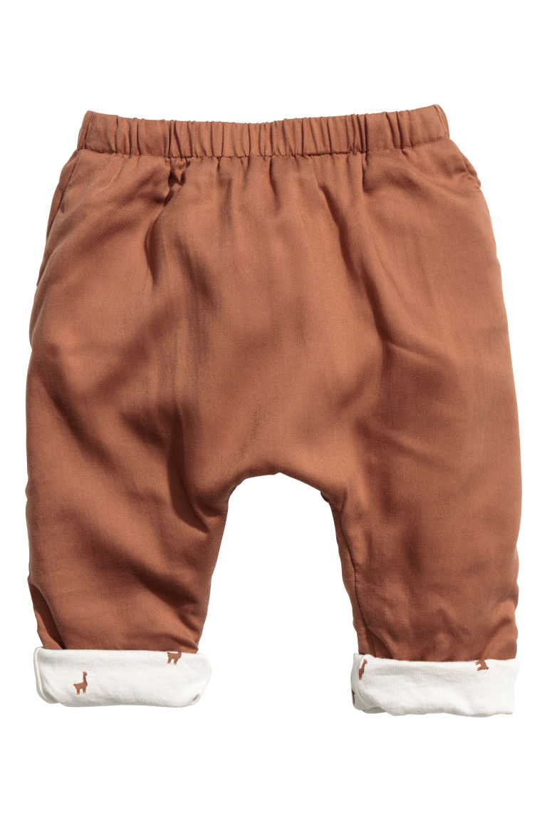 Lyocell trousers - Brown -  | H&M CN