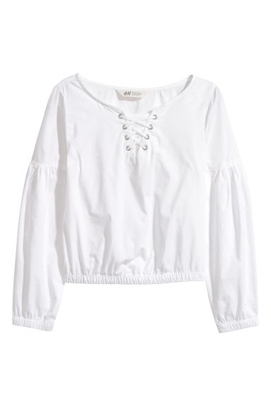 Cotton blouse - White - Kids | H&M