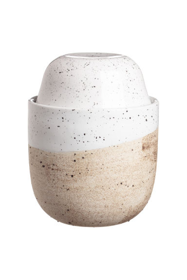 Stoneware pot - White/Natural - Home All | H&M GB