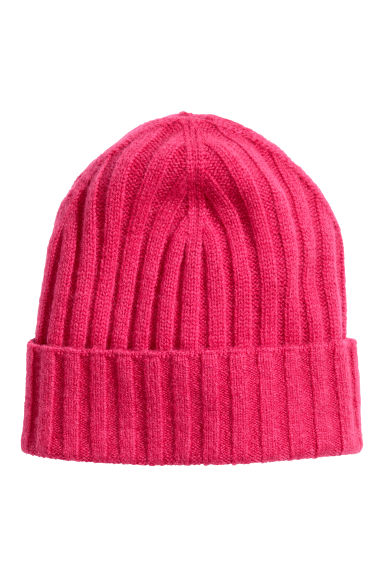 Cashmere-blend hat - Cerise - Ladies | H&M