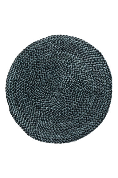 Round Placemat - Dark gray - Home All | H&M US