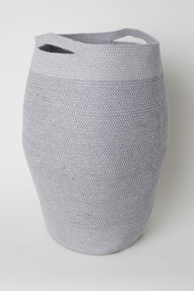 Jute laundry basket - Dark grey - Home All | H&M GB