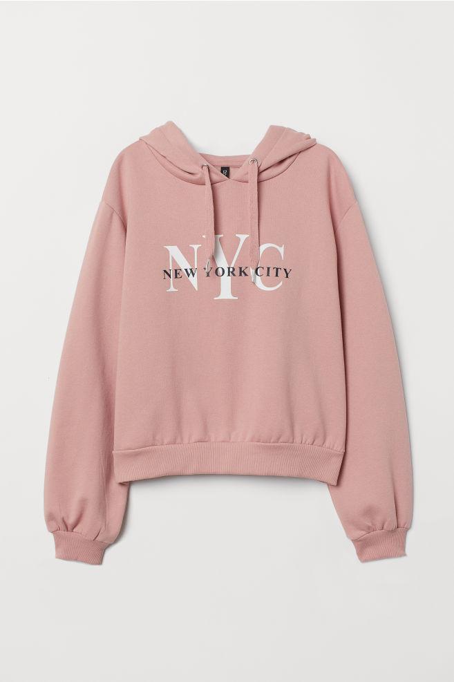 5ed156a68 Hooded Sweatshirt - Dusky pink/NYC - | H&M ...