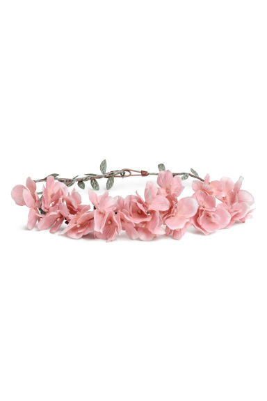 Rigid hairband with flowers - Light pink -  | H&M