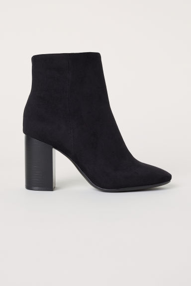 Block-heeled ankle boots - Black - Ladies | H&M CN