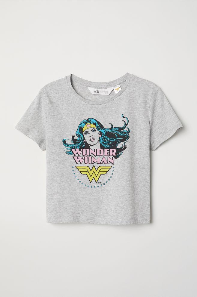 0e1ec314ad1 Baskılı Tişört - Gri kırçıllı Wonder Woman - ÇOCUK