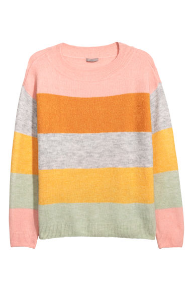 H&M+ Pullover in maglia - Albicocca/color block - DONNA | H&M IT