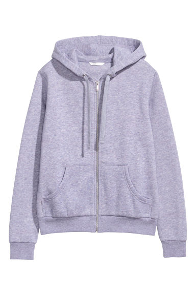 Hooded jacket - Purple marl - Ladies | H&M GB