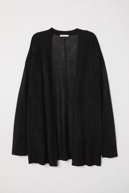 9e7ddcff2ce Fine-knit Cardigan. $19.99. Black