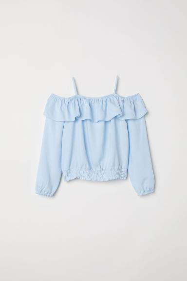Cold shoulder blouse - Light blue - Kids | H&M CN