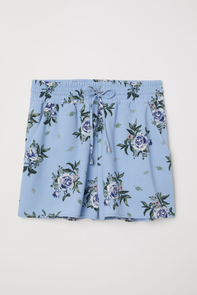 Patterned shorts - Pigeon blue/Floral -  | H&M CN