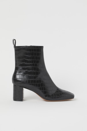 Bottines à talon blocModèle